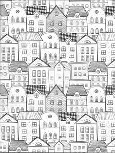 Cityscape coloring page : Vida Simples Cidade dos Sonhos