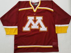 Vtg Nike University Of Minnesota Golden Gophers NCAA Hockey Jersey Mens Large #Nike #MinnesotaGoldenGophers