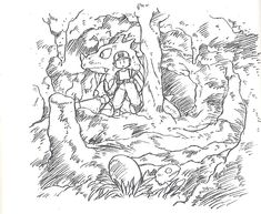 Adventuring in cave, Pokemon concept art, Satoshi Tajiri Original Pokemon, Pokemon Facts, Pokemon Stuff, Pokemon Red Blue, Satoshi Tajiri, Pokemon Sketch, Pokemon Official, First Pokemon, Lovers Art