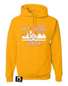 Adult Hey Chicago We're World Champs Today Sweatshirt Hoodie