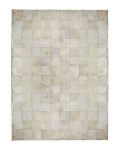 """Pearl Blocks"" Rug at Horchow. Creamy colored cowhide. Gorgeous."