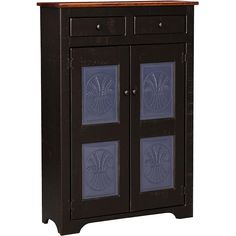 American Traditions Collection - Large Colonial Pie Safe w/ Tin Panels - ATCOMUSA37T Distressed Furniture, Rustic Furniture, Distressed Wood, Hacienda Kitchen, Handmade Cabinets, American Craftsman, Pie Safe, How To Distress Wood, Furniture Collection