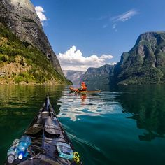fjords and kayak