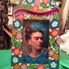 """I love you more than my own skin"". Message for Diego. Frida Nicho @Caoba"