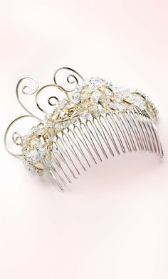 Hair Comb with Swarovski Crystal Beads and Wire