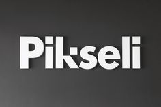 Logotype and signage designed by Werklig for Helsinki office space Pikseli.