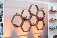 We've found the top 16 best DIY honeycomb shelves for your home. See why this trendy hexagon patterened shelving is so popular right now. Honeycomb Shelves, Hexagon Shelves, Diy Wood Projects, Wood Crafts, Diy Crafts Hacks, Shelf Design, Green Wedding Shoes, Easy Diy, Inspiration