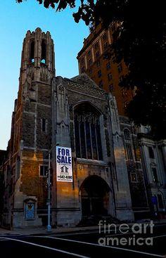 Faith For Sale - photograph by James Aiken james-aiken.artistwebsites.com #jamesaiken #cathedral #newarknj