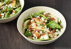 Spinach Salad with Pears, Pecans and Goat Cheese | InSearchOfYummyness.com