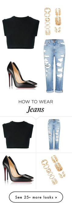 """Untitled #189"" by tiana25 on Polyvore featuring Christian Louboutin, Forever 21, adidas Originals and Genetic Denim"