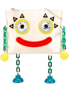 Charlotte Olympia Woman Metal Molly Embellished Satin Clutch Ecru In White Multi White Clutch, White Handbag, Cool Kidz, Unique Bags, Types Of Bag, Charlotte Olympia, Evening Bags, Clutch Bag, Purses And Bags