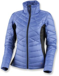 Down jacket for skiing.
