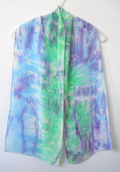 HAND DYED SILK SCARF by T-World Design ► http://etsy.me/186gMGv