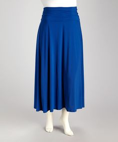 Take a look at this Royal Plus-Size Maxi Skirt by Avital on #zulily today!$24.99, regular 56.00