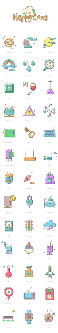 Take a look at this awesome Collection Of 40 Happy Icons – Happycons is designed in a happy and unique manner. Enjoy & Grab it for FREE!
