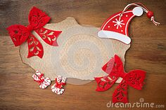 Vintage sheet of paper for congratulations, Christmas decorations by Yulia Davidovich, via Dreamstime