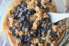 Chocolate Chip PB Oatmeal Cookies - Gluten Free! (Healthy Living Maintenance)