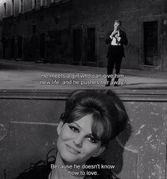 8 1/2 Fellini #film #still #dialogue #screenwriting #inspiration #love #bw #italian #vintage by sylvia.bush