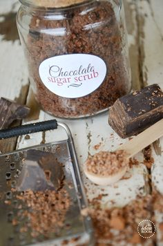 DIY chocolate sugar scrub