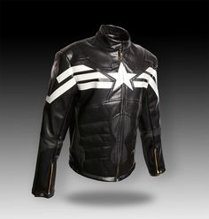 Captain America Cosplay Evans 2015 Winter Soldier Synthetic Leather Men's Jacket | eBay