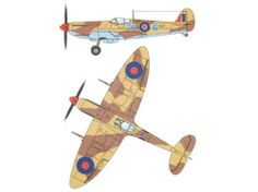 WWII Supermarine Spitfire Mk IXc Fighter Free Aircraft Paper Model Download