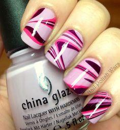 China Glaze Crimson Nail Art
