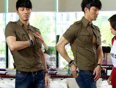 Cha Seung Won, Great Love, Korean Actors, Button Down Shirt, Men Casual, Mens Tops, Dress Shirt