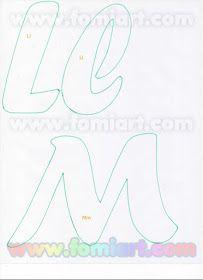 Moldes Gratuitos: 31- Abecedario Gratuito Estilo Fomiart con Maestra con Manzana 3d Letters, Letters And Numbers, Felt Name, Silhouette Online Store, Beautiful Notes, Creative Lettering, Monogram Alphabet, Letter Templates, Cool Fonts
