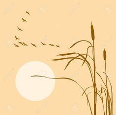Find Vector Drawing Flock Geese On Bulrush stock images in HD and millions of other royalty-free stock photos, illustrations and vectors in the Shutterstock collection. Thousands of new, high-quality pictures added every day. Duck Tattoos, Hunting Tattoos, Tatoos, Goose Drawing, Modern Body Art, Chalkboard Art Quotes, Easy Art For Kids, Tiffany Art, Cottage Art