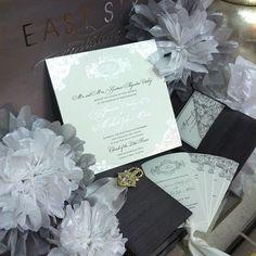 Silver and Grey Invitations | East Six | eastsix.com