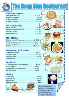 printable restaurant menu - Google Search