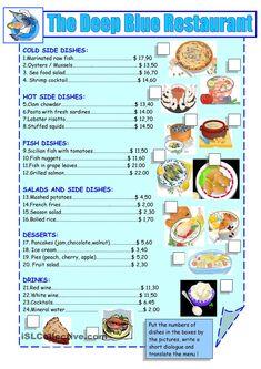 printable restaurant menu - Google Search