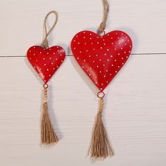 Garden with Love! Treehouse, Hanger, Drop Earrings, Heart, Garden, Red, Home And Garden, Classic, Gifts