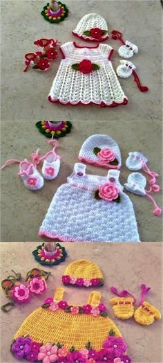 crocheted-baby-sets