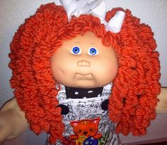 VTG CABBAGE PATCH #14 CHUBBY GIRL DOLL CUSTOM POPCORN REROOT CAT CLOTHES SHOES #Dolls
