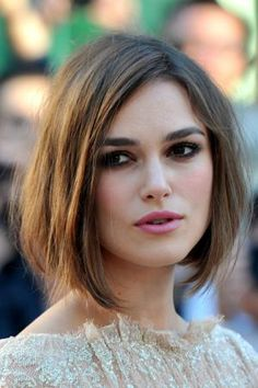 I pick the best and worst hairstyles for square face shapes in this photo gallery.: Kiera Knightley's Perfect Long Bob
