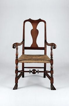 American (New Hampshire or Maine) at the Metropolitan Museum of Art, New York rush chair