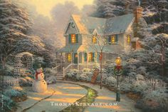 """In """"The Night Before Christmas"""", Thomas Kinkade drew inspiration from Clement Clarke Moore's 1923 Poem """"A Visit From St. Nicholas"""". As you gather with family and friends on this Christmas Eve, we wish all of our fans and collectors an evening of peace and joy with loved ones."""