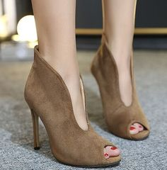 27.00$  Buy here - https://alitems.com/g/1e8d114494b01f4c715516525dc3e8/?i=5&ulp=https%3A%2F%2Fwww.aliexpress.com%2Fitem%2FSize-4-9-Elegant-Autumn-Ankle-Boots-Casual-Khaki-High-Heels-Women-Shoes-Peep-Toe-Women%2F32754381185.html - Size 4~9 Elegant Autumn Ankle Boots Casual Khaki High Heels Women Shoes Peep Toe Women Boots botas mujer (Check Foot Length) 27.00$