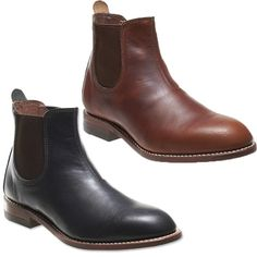 """Wolverine 1000 Mile Camden 6"""" Chelsea Pull On Boot Horween Leather Black Brown #Wolverine #AnkleBoots"""