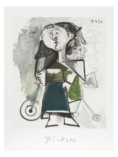 Fillette au Tricycle by Pablo Picasso (Lithograph) 1/2 Bath downstairs