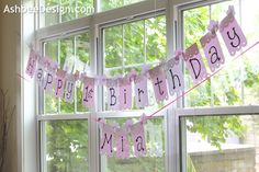 Ashbee Design: Quick and Easy DIY Birthday Banner
