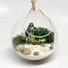 mermaidhomedecor - Hanging Terrarium Mermaid Garden Kit $24.90