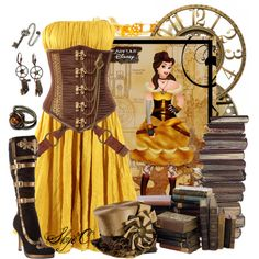 """Belle - Steampunk - Disney's Beauty and the Beast"" by rubytyra on Polyvore"
