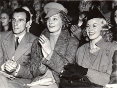 Ginger Rogers, Fred Perry, single tennis champion, and his wife Helen Vinson, actress, attend the circus September 26, 1936 Ginger Rogers, Marlene Dietrich, Fred Perry, Champion, Hollywood, Actresses, Poses, Dance, Lady
