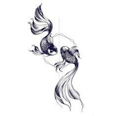 Vente de faux Tatouage éphémère dessin double poisson pas cher sur Tarawa.com achetez vos faux tatouage en toute sécurisé sur notre site de tatouage temporaire