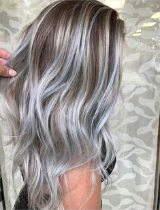 Ombre Hair Color for Grey Silver Hairstyles Ideas 2018