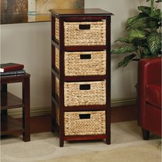 A removable basket storage tower with cosmopolitan appeal arrives in the new Seabrook Storage Tower.  Certain to provide your home with a organic visage that friends and family will love, this storage solution is as versatile as it is affordable.