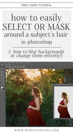 This free tutorial will explain how to select around a subject, easily mask their hair, and then move them over onto a new background in Photoshop! (It even shows how to blur backgrounds, too!) This free tutorial will explain how to mask hair and blur o