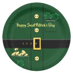 Leprechaun Suit St Patricks Day Party Plate - st patricks day gifts Saint Patrick's Day Saint Patrick Ireland irish holiday party